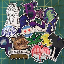 Bromance Records Stickers